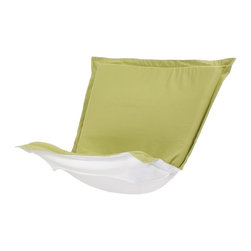 Howard Elliott - Starboard Willow Puff Chair Cover - Change of Scenery! Take your favorite chair outside by updating with a Starboard Patio Puff Slipcover. Its special fabric cover has been specially designed to withstand the elements. Fill your yard with the colors of summer with the fun, bright color selection of the Starboard Patio Puff Slipcover.