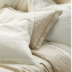 Ballard Designs - Washed Linen Duvet - Pair washed linen with a rustic wooden bed for the perfect amount of elegance.