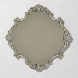 Anthropologie - Coat of Arms Mirror - This piece is just simple enough to fit in any space yet just interesting enough to be unique. The rounded edges make it so atypical and lovely. It would look beautiful in a bedroom or an entryway.