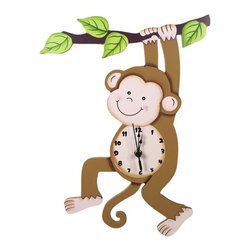 Fantasy Fields - Fantasy Fields Sunny Safari Wall Clock - TD-0081A - Shop for Clocks from Hayneedle.com! Complete your child s jungle-themed room with the Teamson Design Sunny Safari Wall Clock. This wild wall clock is made of wood and features a charming monkey design. Its colorful hand-painted finish adds a festive look to any space. Easy-to-read numerals black hands and a red second hand make it easy to know when it s time to stop hanging around and get ready for school.About Teamson DesignBased in Edgewood N.Y. Teamson Design Corporation is a wholesale gift and furniture company that specializes in handmade and hand-painted kid-themed furniture collections and occasional home accents. In business since 1997 Teamson continues to inspire homes with creative and colorful furniture.
