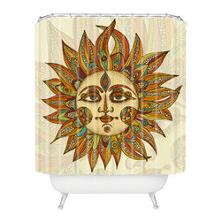 DENY Designs - Valentina Ramos Helios Shower Curtain - Who says bathrooms can't be fun? To get the most bang for your buck, start with an artistic, inventive shower curtain. We've got endless options that will really make your bathroom pop. Heck, your guests may start spending a little extra time in there because of it!