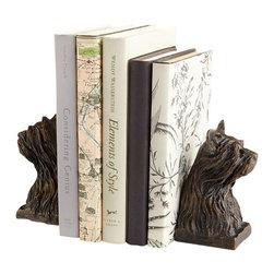 Cyan Design - Westie Bookends - Westie bookends - bronze.