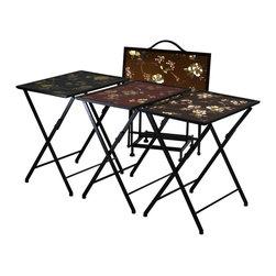 Cyan Design - Cyan Design 12.5 Inch Square Alberta Folding Tables (Set of 5) - 12.5 Inch Square Alberta Folding Tables (Set of 5)