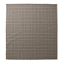 Faribault Woolen Mill Co. - Cumberland Plaid Wool Blanket, Natural/Mahogany/Silver, Twin - Faribault is known for its quality but its reputation for design and color isn't far behind. Our Cumberland Plaid is a showcase for all three. Inspired by a 1920 Faribault plaid design, this updated version introduces contemporary colors in a medium weight, easy care blanket. 100% merino wool and machine wash and dryable, the Cumberland Plaid lends itself both to beauty and durability making it a fine example of what the Faribault Woolen Mill has to offer. The Cumberland Plaid is a blanket to be seen.