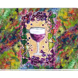 Caroline's Treasures - Wine Kitchen Or Bath Mat 20X30 - Kitchen / Bath Mat 20x30 - 20 inches by 30 inches. Permanently dyed and fade resistant. Great for the Kitchen, Bath, outside the hot tub or just in the door from the swimming pool.    Use a garden hose or power washer to chase the dirt off of the mat.  Do not scrub with a brush.  Use the Vacuum on floor setting.  Made in the USA.  Clean stain with a cleaner that does not produce suds.