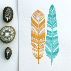 River Luna etsy.com - Watercolor Feather Print -