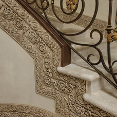 Mediterranean Staircase by Anything But Plain, Inc.