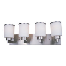Z-Lite - Z-Lite 312-4V-BN Cosmopolitan 4 Light Bathroom Vanity Light in Brushed Nickel - This 4 light Vanity from the Cosmopolitan collection by Z-Lite will enhance your home with a perfect mix of form and function. The features include a Brushed Nickel finish applied by experts. This item qualifies for free shipping!