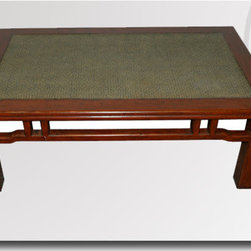 Asian Antique Furniture - RAB 11 Red Lacquered Coffee Table