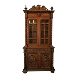 EuroLux Home - Consigned Antique 1880 French Buffet Hunting Style - Product Details