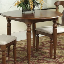 Bassett Mirror - Charles X Round Drop Leaf Dining Table - 8048-706 - Round Drop Leaf Table