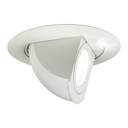 "Juno - Juno 4"" Low Voltage Adjustable Angle Recessed Light Trim - A fully adjustable angle trim from Juno Lighting. This 4"" white recessed light gives you complete functionality with its adjustable elbow. The trim has a 75 degree aiming capability. Perfect for highlighting wall art or accent sculptures. To be used with Juno Lighting IC New Construction Non-IC New Construction and Non-IC Remodeling recessed light housing. Uses one 50 watt MR16 bulb (not included). 4"" wide.  White trim.  White aiming elbow.  75 degree adjustable angle.  Low Voltage.  Rated for use with one 50 watt MR16 bulb (not included).  4"" wide."