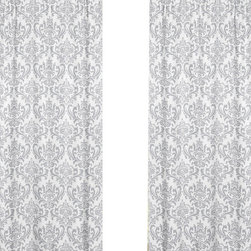 Sweet Jojo Designs - Elizabeth Damask Print Window Panel - Set of 2 by Sweet Jojo Designs - The Elizabeth Damask Print Window Panel - Set of 2 by Sweet Jojo Designs, along with the  bedding accessories.