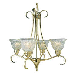 Volume Lighting - Volume Lighting V3994 Versailles 4 Light 1 Tier Chandelier - Four Light 1 Tier Chandelier from the Versailles CollectionStriking and spectacular, this 4 light chandelier features 1 tier and dazzling lead crystal.Features: