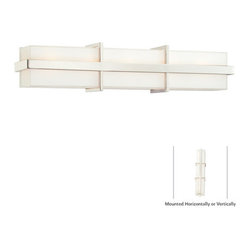 Kovacs - Kovacs P5885 5 Light Bathroom Fixture with Rectangular Mitered Glass Shade from - George Kovacs P5885 Five Light Bathroom Fixture with Rectangular Mitered Glass Shade from the Intersection CollectionThe futuristic Intersection 5 Light Bath Vanity is equally suited to lighting your bathroom, or space port.Features:
