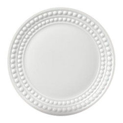 "L'Objet - L'Objet Perlee White Bread Plate - Inspired by the timeless elegance and modernity of the pearl. Limoges Porcelain. Made in Portugal. Dishwasher & Microwave Safe. Diameter 6.5"" L'Objet is best known for using ancient design techniques to create timeless, yet decidedly modern serveware, dishes, home decor and gifts."