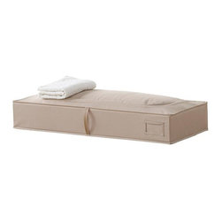 Home Decorators Collection - ClosetMAX Underbed Storage Bag - Slip garments and linens out of sight with our Nantucket Canvas Underbed Storage Bag. Perfectly sized to slide under a bed, onto a shelf or into a corner of your closet, this sturdy canvas bag features a convenient top-loading zipper design and a front handle. Polyester fabric in taupe. Top loading zipper design with front handle. Label pocket for easy identification of items. Collapsible for storage.