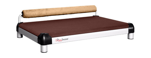 DoggySnooze - snoozeSleeper, Memory Foam, 1 Bolster Tan - It's a dog's life for pooches who get to snooze on this contemporary dog bed. Elevated and extra cushy, thanks to a memory foam mattress. Choose the bolster color that complements your decor. Made in the USA.