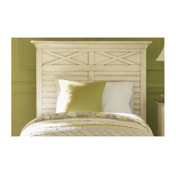 Liberty Furniture - Ocean Isle Youth Twin Panel Headboard (Twin) - Choose Headboard Size: TwinBolt-on rail system. Center supported slat system. Warranty: One year. Made from select hardwoods and pine veneers. Distressed bisque with natural pine finish. Made in Vietnam. 47 in. W x 4 in. D x 31 in. H (87 lbs.)