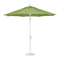 Treasure Garden - Treasure Garden 9 ft. Aluminium Push Button Tilt Patio Umbrella - UM9201-5401 - Shop for Patio Umbrellas from Hayneedle.com! Thanks to its stylish design and easy tilt function the Treasure Garen 9 ft. Push Button Tilt Octagon Series Patio Umbrella is a smart choice for any patio dining set. Boasting an octagon shape this market umbrella casts a comfortable 64 square feet of shade. Simple crank lift and push-button tilt mechanisms ensure easy operation by anyone. The powder-coated aluminum pole delivers lasting strength and resilience. Choose from several high-performance Sunbrella fabric options to match your outdoor setting. Additional Features: 8 ribs support octagon shade Single wind vent reduces effects of gusts Pole diameter: top 1.38 inches; bottom 1.5 inches Bottom pole length: 36 inches Height open: 102.4 inches About Sunbrella FabricSunbrella fabric is breathable and water-repellent. If kept dry it will not support the growth of mildew as natural fiber will. It's easy to clean requiring simple dusting off and soap and water. Beautiful and durable Sunbrella fabric is a name you can trust in your outdoor furniture. Sunbrella fabric comes with a 5-year warranty against fading.