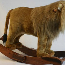 Hansa Lion Rocker - Hansa Lion Rocker is handcrafted from plush. Airbrushed to add character. This Lion Rocker can hold up to 150 pounds. Ages 3 and up. 31.59in X 10.14in X 25.35in (LxWxH)