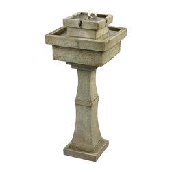 Kenroy - Kenroy 50029SS Cadet Outdoor Solar Floor Fountain - Kenroy 50029SS Cadet Outdoor Solar Floor Fountain