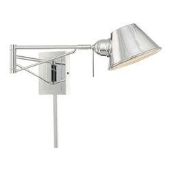 Kovacs - Kovacs P611-077 1 Light Xenon Swing Arm Wall Sconce from the George's Reading Ro - George Kovacs P611-077 Single Light Swing Arm Wall Lamp