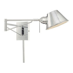 Kovacs - Kovacs P611-077 1 Light Xenon Swing Arm Wall Sconce from the George's Reading Ro - George Kovacs P611-077 Single Light Swing Arm Wall Lamp