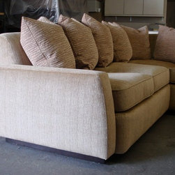Behind The Scenes - sectional w/ large toss pillows