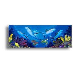 """READY2HANGART.COM - Ready2hangart David Dunleavy 'Creature Feature' Canvas Wall Art, 20"""" X 40"""" Inch - This beautiful canvas wall art brought to you by Ready2hangart from renowned artist David Dunleavy exemplifies his passion for marine life while translating it to detailed underwater paintings.  It is fully finished, arriving ready to hang on the wall of your choice."""