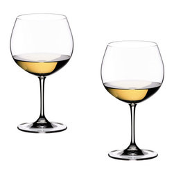 Riedel - Riedel Vinum Oaked Chardonnay Glasses - Set of 2 - Offering a larger volume, the Vinum Montrachet glass reveals the intensity and the wine's layers of aroma.       The size of the bowl enables the rich bouquet to develop its wonderfully diverse range of aromas, emphasizing the finesse, while minimizing the risk of it becoming over-concentrated. Recommended for: Burgundy (white), Chardonnay (oaked), Chardonnay New World (oaked), Corton-Charlemagne, Meursault, Montrachet, Morillon (oaked), Pouilly-Fuissé, Riesling (Sp�tlese/late harvest dry), Riesling Smaragd, Smaragd, St. Aubin
