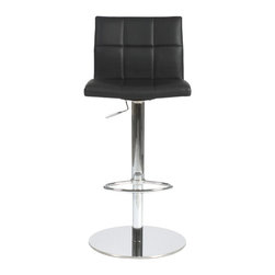 Euro Style - Euro Style Cyd Bar / Counter Stool X-KLB08171 - If it had arms it would be a throne. The full seat and back offer delicious comfort. The squared off seams help keep the shape firm and tidy. This is a chair fit for a king, or just someone who'd like a beer after work and feel like a king.