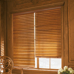 Levolor - Levolor Premium 2 1/2-inch Wood Blinds, Wooden Blinds - Estate Collection - This premium color collection features furniture-quality finishes to coordinate with today's furniture, flooring and cabinetry finishes for a completely coordinating look.  The 2 1/2-inch slat size is suited for larger windows or where more view-through is preferred.