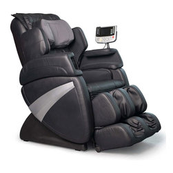 Cozzia - Cozzia EC363E Zero Gravity Massage Chair, Black - This Cozzia 363C Massage Recliner features auto-scan technology that custom-matches a massage routine to each user, as well as Zero Gravity positioning that elevates the knees, keeps the spine parallel to the ground, and eliminates vertical pressure on the vertebrae to heighten relaxation during use. An S-shaped back rest and automatic reclining add to the comfort and convenience of this massage chair. Six massage technices include Swedish, Shiatsu, kneading, clapping, tapping, rolling.Boasting ten pre-programmed massages, manual programs for customization,massage intensity levels and width adjustmentable,partial and spot massage much helpful focusing on the fatigued points,full comprehensive support functions,such as vibration in seat,lumbar heating and air pressure massage for back,seat,arms,legs and feet.What's more,this kind chair features stand-up support for the elder or disable person.