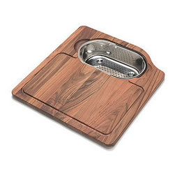 Franke - Franke OC-45SP Teak Orca Orca Solid Wood Cutting Board - Cutting board with stainless colander  Used for ORX 110 and ORX 610