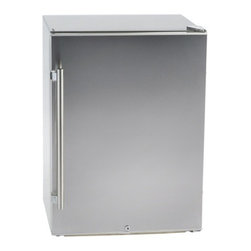 "Orien USA - Stainless Steel Outdoor 4.8 Cu Ft Refrigerator - Dimensions: 33.5"" high x 23.5"" wide x 24"" deep"