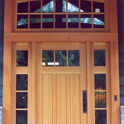 Custom Entry Door with Sidelights and Transom -