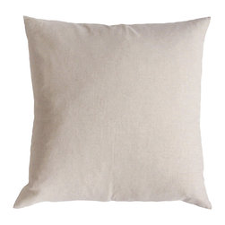 KOKO - Natural Euro Sham Pillow and Insert - Even if you love decorating with color, it's good to add a bit of cream and white for balance. It just feels natural and fresh, especially for a bed. This pillow can provide that calming touch, plus it looks super plush and comfy.