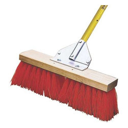 "MIDWEST RAKE COMPANY - 18"" Street Broom - Stiff, extra-long bristles make this 18"" Street Broom an excellent choice when you are dealing with rough surfaces."
