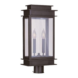 Livex Lighting - Livex Princeton Outdoor Post Head Bronze -2017-07 - Livex products are highly detailed and meticulously finished by some of the best craftsmen in the business