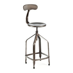 Delilah Bar Stool, Gunmetal - I love the Delilah bar stool from Industry West. It comes in three different finishes, but the gunmetal is my fave. Doesn't the back have such a unique shape?