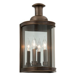 "Troy Lighting - Troy Lighting B3192 Pullman 2 Light Flush Mount Wall Sconce - Troy Lighting B3192 Pullman Light 16.75"" High Wall SconceThe clear glass allows the brilliance of the candle-like bulbs and reflective back panel to shine through.Troy Lighting B3192 Features:"