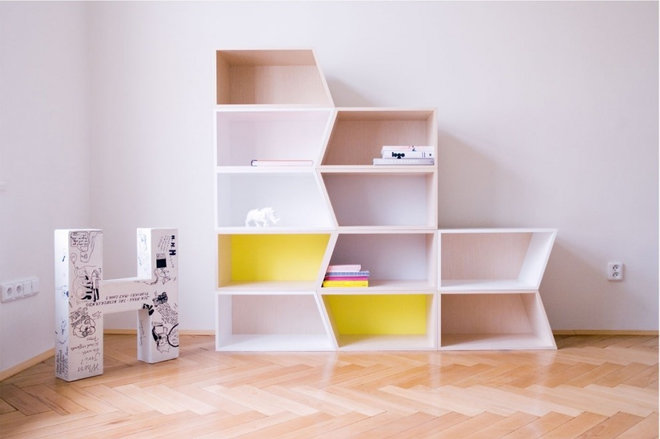 Contemporary Bookcases by Lucie Koldova