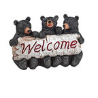 "EttansPalace - Baby Bear Cobs Welcome Statue Sculpture - House Warming Gift - Your home or garden gate will ""bear"" a warm welcome worth repeating with our bear statue trio. Our bear cub animal statue, complete with three sets of wide grins and furry paws wrapped around a birch tree, is sculpted 360 degrees and adorable from any angle! Cast in quality designer resin, this black bear sculpture is hand-painted as the perfect house-warming gift with more big woods personality than you can bear!"