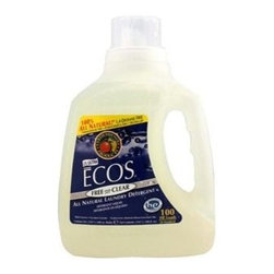 Ecos Ultra 2x All Natural Laundry Detergent - Free&Clear - Case Of 4 - 100 Fl Oz - If you want a laundry detergent that really is all-natural, look no further. Free and Clear Laundry Liquid is made entirely of plants and is free of essential oil fragrances, soy softeners and optical brighteners. Absolutely no coloring is added and the pH of the Liquid is neutral. Earth Friendly Products uses only plant-based, recycled, animal-friendly materials to make their many useful, environmentally friendly products, which are biodegradable and non-toxic.