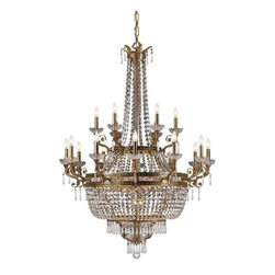 Crystorama Lighting - Crystorama Lighting 5159-AG-CL-MWP Regal Traditional Chandelier in Aged Brass - Crystorama Lighting 5159-AG-CL-MWP Regal Traditional Chandelier In Aged Brass With Clear Hand Cut Crystal