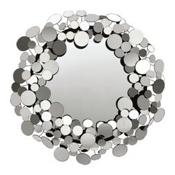 """Bubble Mirror - Large - %The Large Bubble Mirror by Oly presents a stunning design combining sleek contemporary glamour and enticing function. The Bubble Mirror is a delightful, shimmering approach to """"mirror, mirror on the wall"""" with its' striking non-antiqued mirror with brass detail, that will liven up your decor. Blending the traditional with the modern, Oly provides a style that works well in a wide range of environments."""