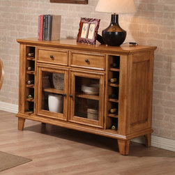 "ECI Furniture - Rustic Oak Server - ""The rustic oak dining collection server is a great accent piece for your country environment. The stunning rustic oak finish will fit right in with any of the other pieces in this collection.."