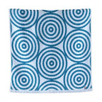 imabari towel group - Uzushio Wave Towels, Bath Towel - Turquoise shade of indigo with sea whirl patterns. Uzushio, meaning whirlpool in Japanese, is an appropriate name for their fondness of the beauty of the sea. Both size options uniquely differently, with special stitching on the bath towel, making this set a collection piece to add to your bathroom.