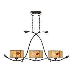 Dale Tiffany - New Dale Tiffany Hanging Lamp Fantom Leaf - Product Details